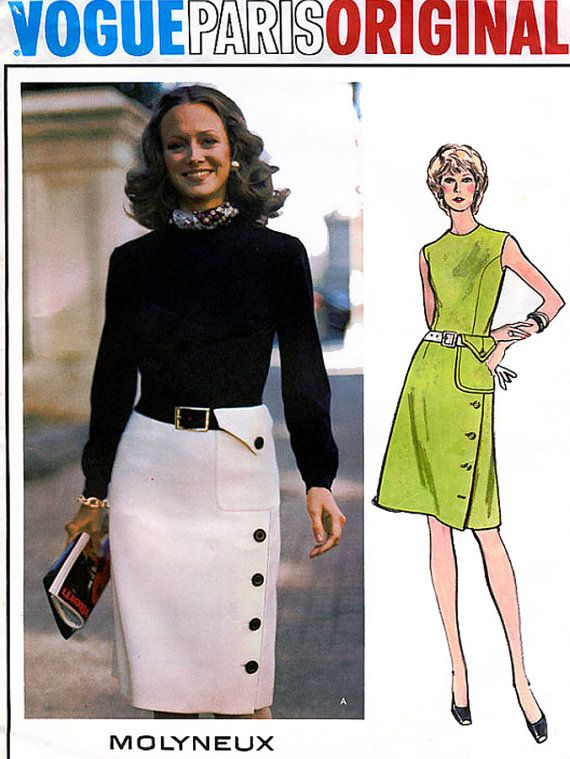 1970s Vintage Sewing Pattern Vogue Paris Original by sandritocat