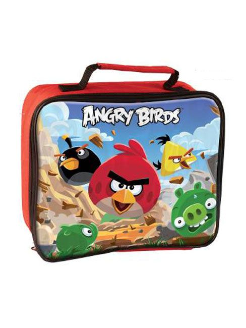 Angry Birds Insulated Rectangular Lunch Bag with a superb Angry Birds design printed on the front panel -Ideal for school