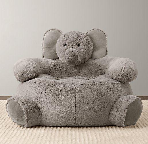 Cuddle Plush Elephant Chair | Nursery Accessories | Restoration Hardware Baby  Child