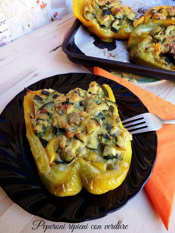 Peperoni ripieni con verdure