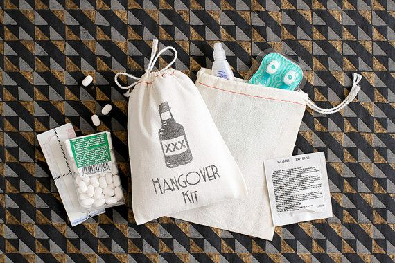 Hangover Kit  Bachelor Party Favor Bags  Custom by becollective