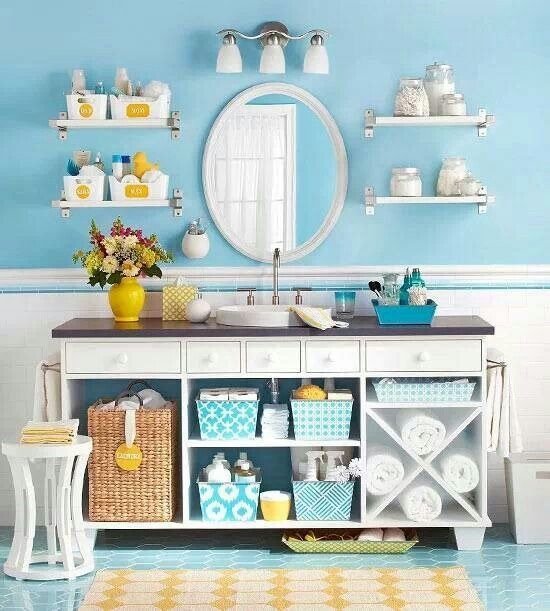 blue and yellow bathroom bathroom ideas pinterest