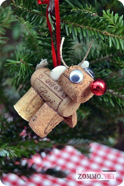 Christmas toy of wine corks