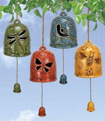 Hanging garden bell chimes