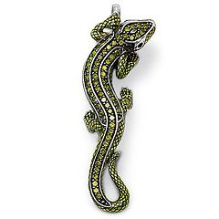 Lizard - 92.5 sterling silver with green cubic zirconia from Thomas Sabo