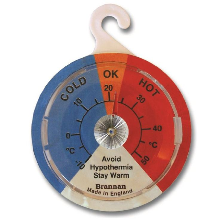 65mm dial hypothermia thermometer with clear zones to help determine the most comfortable and economical settings for your home.