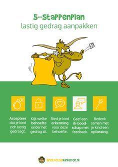 Infographic: 5-Stappenplan lastig gedrag aanpakken