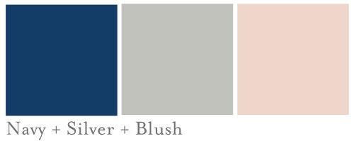 navy,blush and silver weddings | Each year I see a major trend in wedding colors. You can see for ...