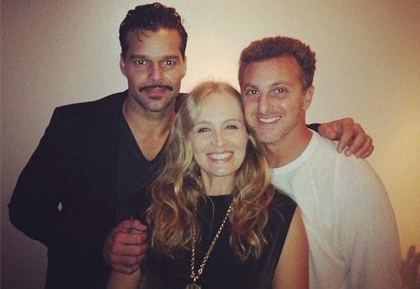 Ricky Martin, Luciano Huck and Angelica Huck