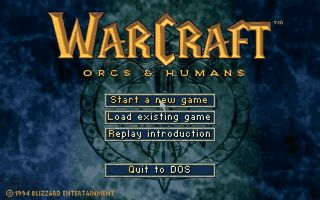 MS-DOS GAME: WarCraft 1: Orcs and Humans
