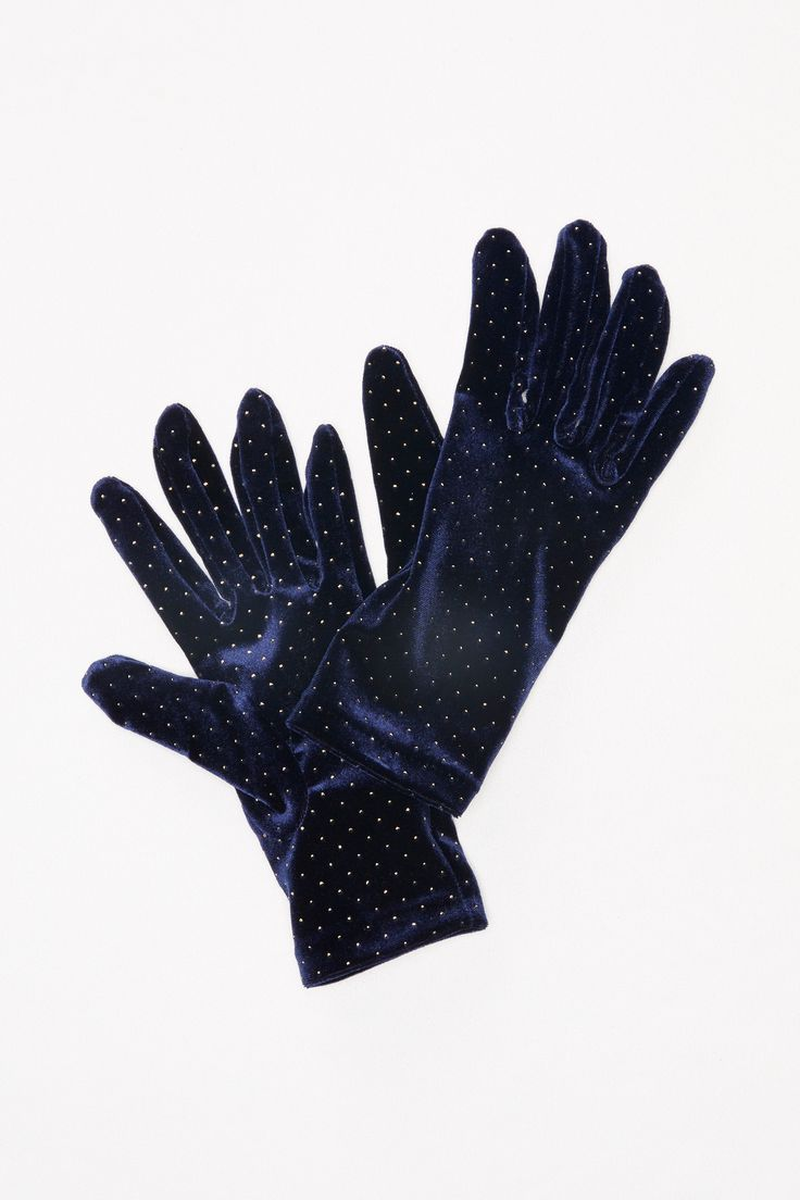 Heart of Gold Velvet Glove | Stay cozy in these luxe velvet gloves featuring a beautiful and colorful design.