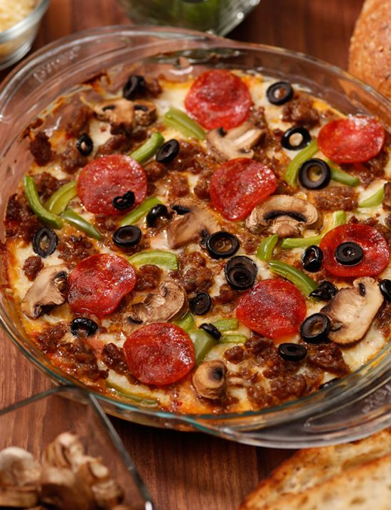 No, This Isn't Pizza, It's Pizza Dip! I am making this for Super Bowl Sunday. One Hawaiian and one meat lovers!