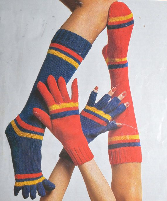 PDF socks with toes socks mittens mitts by TheVintageWorkbox