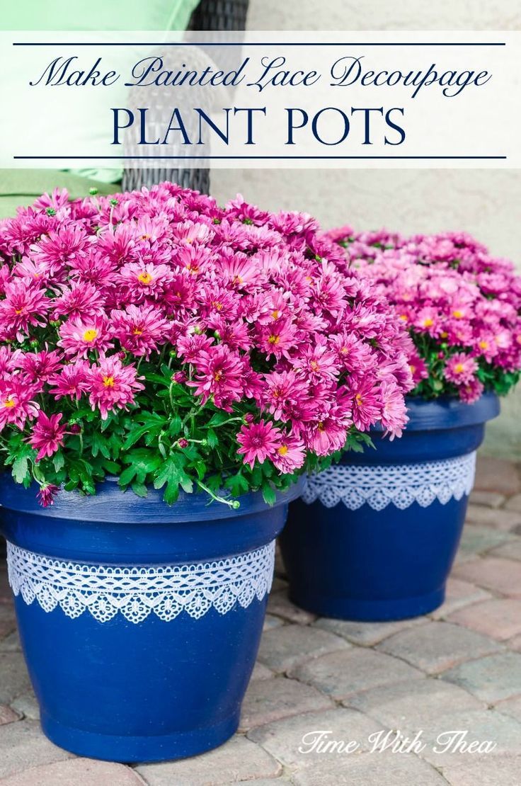 Easily update basic inexpensive plastic plant pots