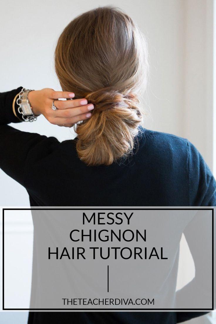 Pleasing The 25 Best Ideas About Messy Chignon On Pinterest Chignon Updo Short Hairstyles Gunalazisus