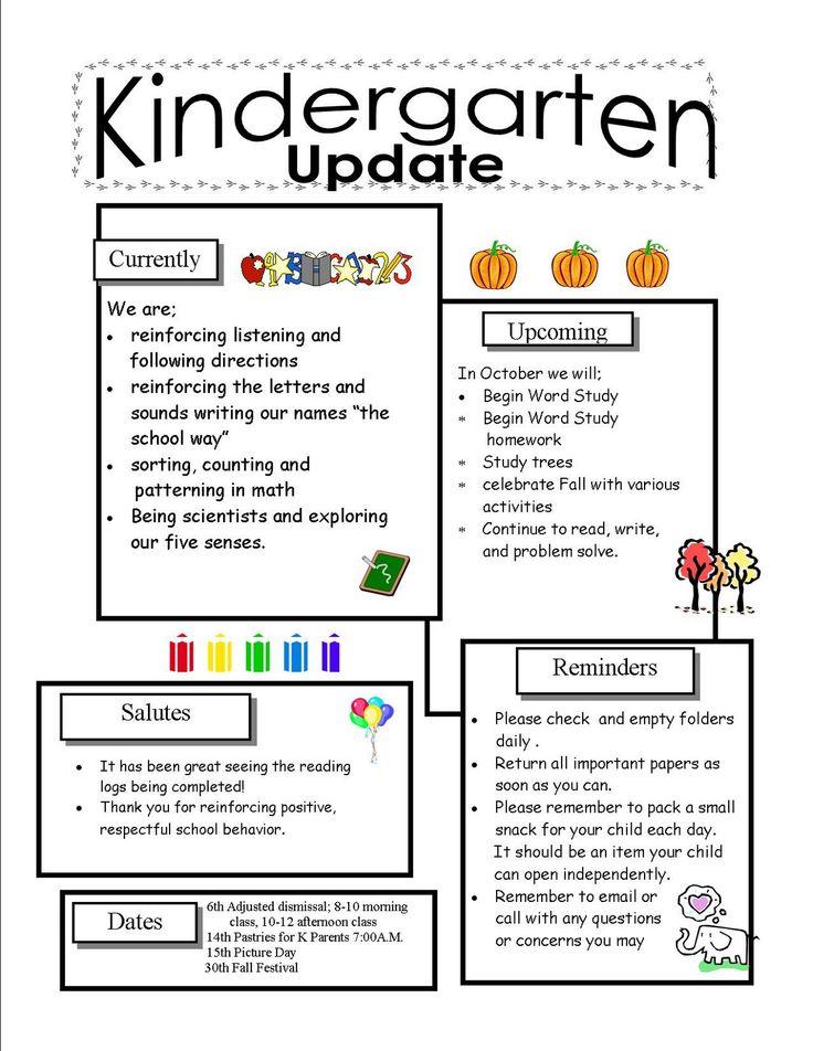 Teaching Helper Clroom Newsletter Templates on
