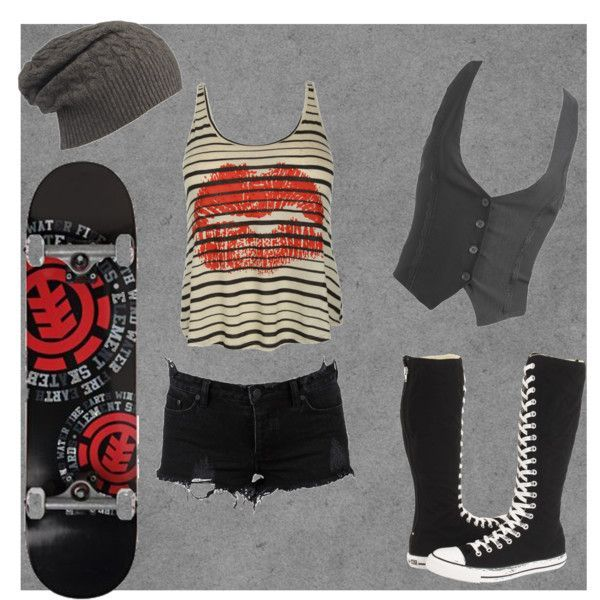 """outfit for tomboy that are gay for skater girls 