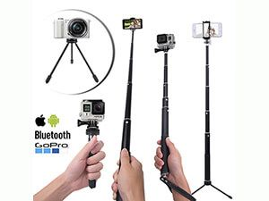 Longko Selfie Stick with Tripod