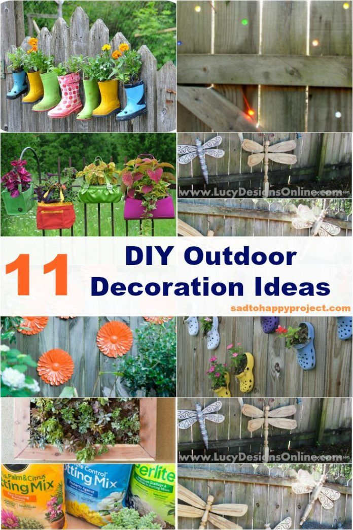11 Diy Outdoor Decoration Ideas To Beautify Your Garden Diy