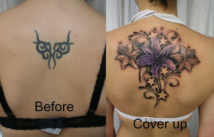 Tattoo Cover Up Ideas! Just as a phoenix rises from the ashes born anew, a…
