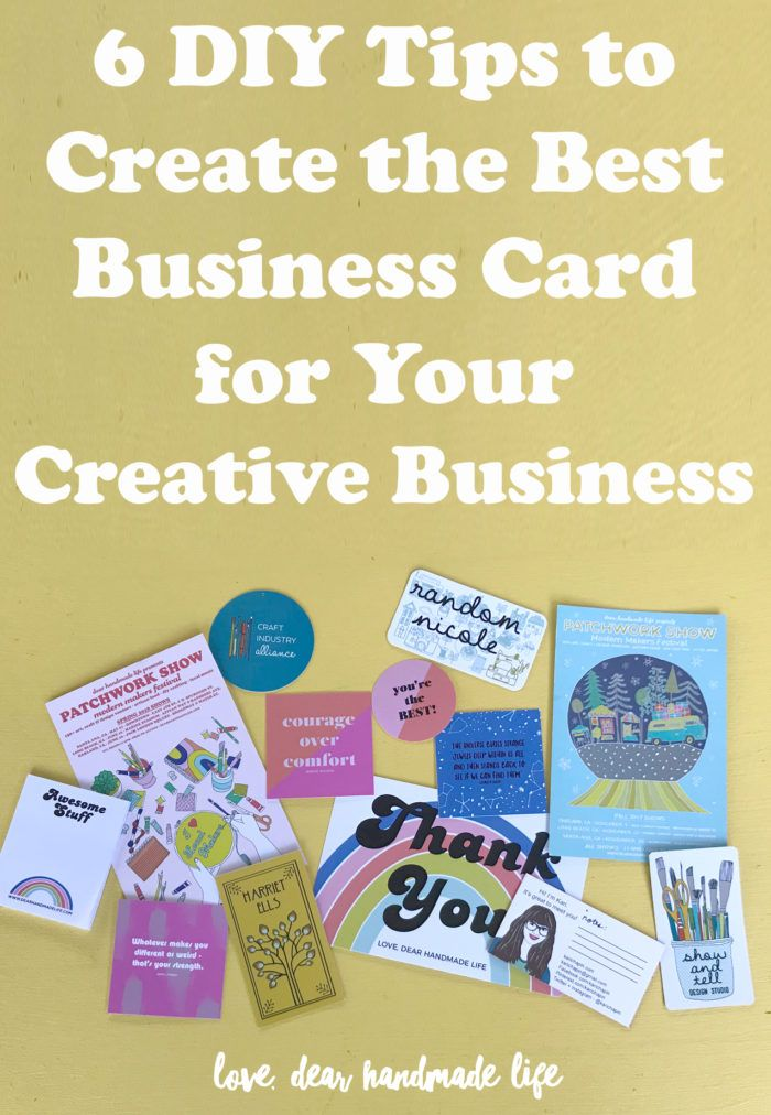6 Diy Tips To Create The Best Business Card For Your Creative Business Dear Handmade Life Business Cards Design Diy Cool Business Cards Folded Business Cards