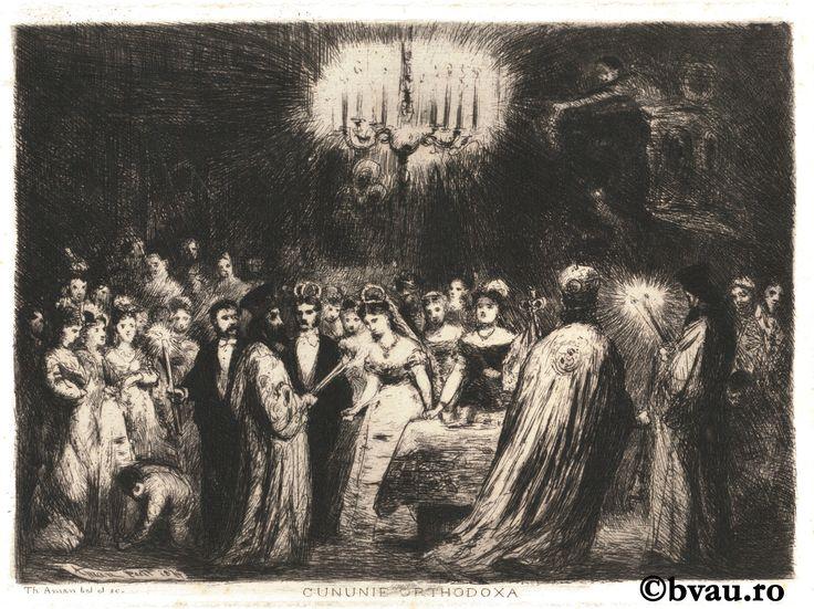 "Theodor Aman, Cununie ortodoxa. Imagine din colecțiile Bibliotecii ""V.A. Urechia"" Galați."