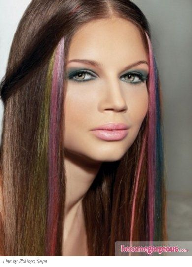 The 25 best rainbow hair highlights ideas on pinterest colored rainbow hair highlights are perfect to go for an alternative hair coloring job use these multi tonal hair dyeing idea to update your look to the newest pmusecretfo Choice Image