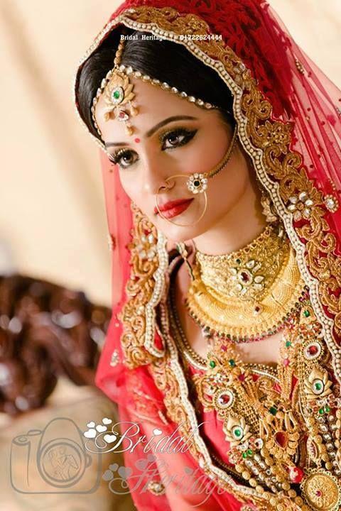 Bangladeshi Bride # Red attire for wedding #
