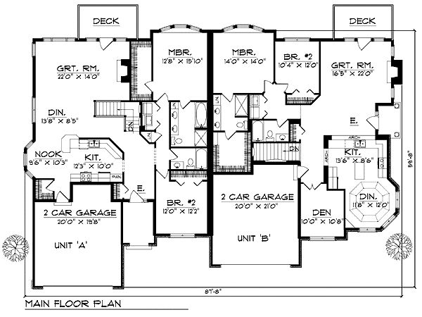 The 25 Best Duplex Plans Ideas On Pinterest Duplex