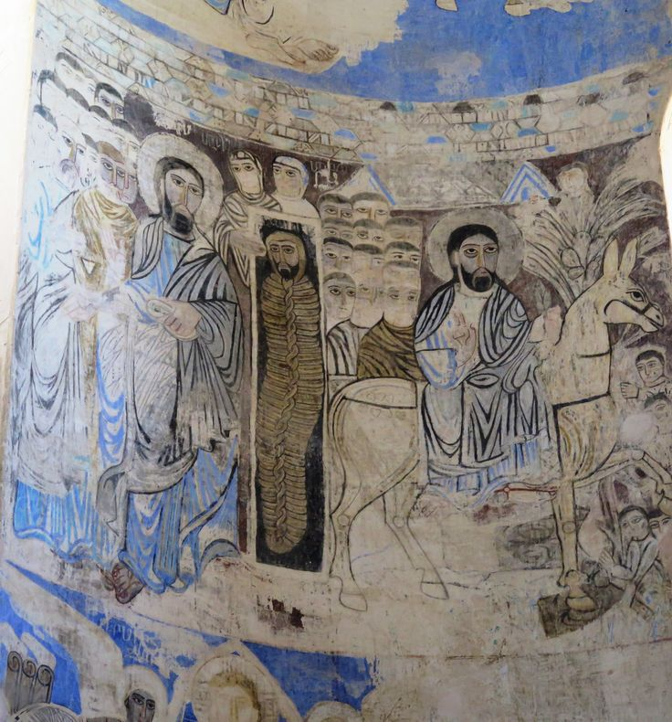 Fresco detail in Akdamar church Lake Van E Turkey