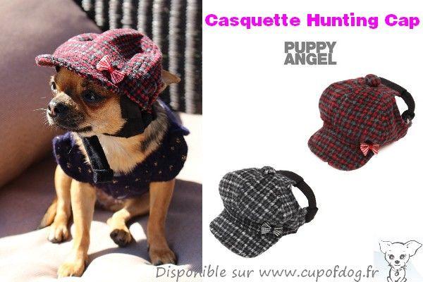 casquette pour chien Puppy Angel Hunting Cap https://www.cupofdog.fr/vetement-chihuahua-manteau-petit-chien-xsl-246.html