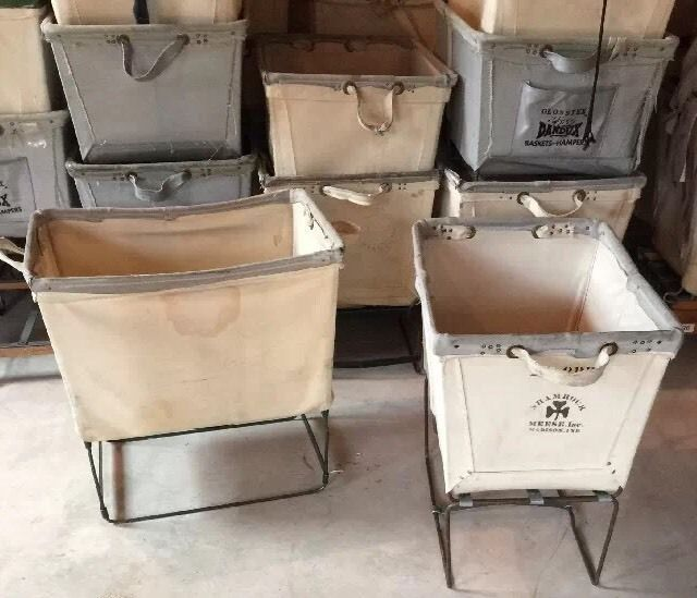 Industrial Factory Canvas Cart Tub Tug Commercial Laundry Basket Bin Toy Chest