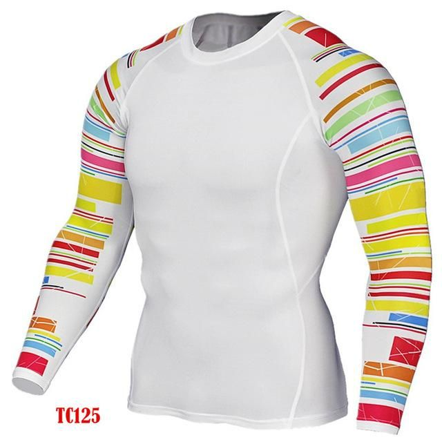 3D Printed Long Sleeve Fitness T Shirt