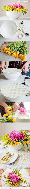 Frühlingsdeko - Tolle Idee, um Blumen in einer Schale in Form zu halten! (Cool Crafts Decor)