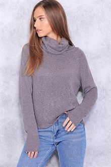 Dark Grey Tones Softly Knit