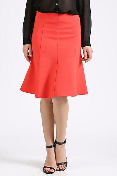 A-Line Orange Skirt