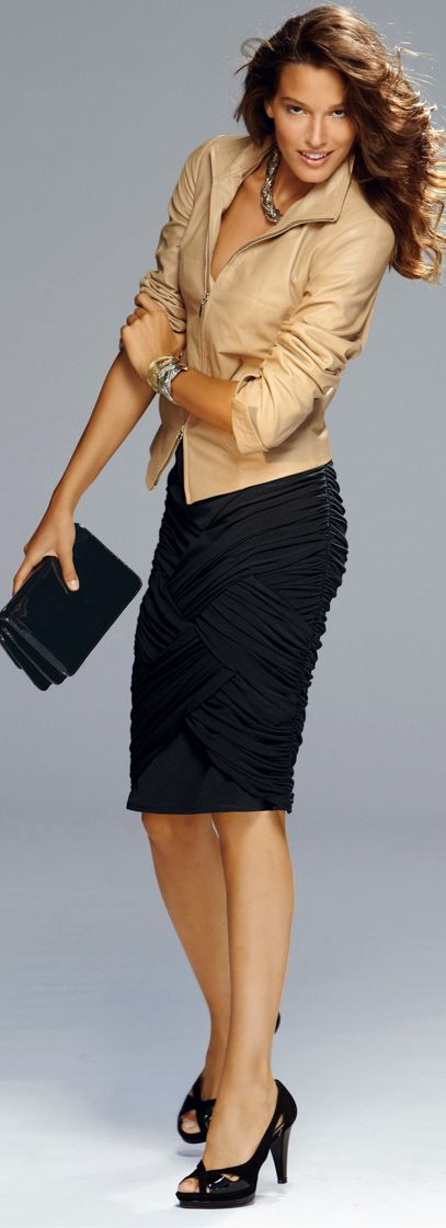 Get dressed for work. Playing with different textures is another way to have fun with your work wear