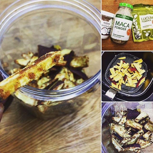 キャラメル風味のサツマイモチップスを作りましたレシピはブログにアップしたので良かったら見てください。 Caramel flavor Sweet Potato Chipsrecipe is on my Japanese blog! #healthylifebykelly#superfood#スーパーフード