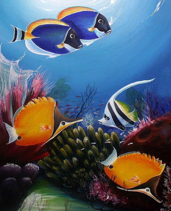 underwater painting - Google Search