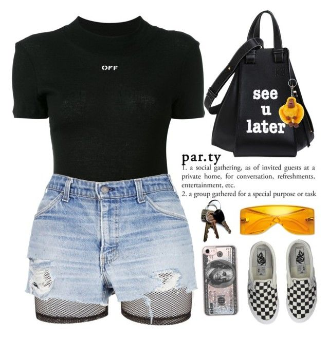 """""""PASSIONFRUIT """" by queenbrittani ❤ liked on Polyvore featuring Bitching & Junkfood, Off-White, Loewe, Vans, Michael Kors, Kipling and Casetify"""