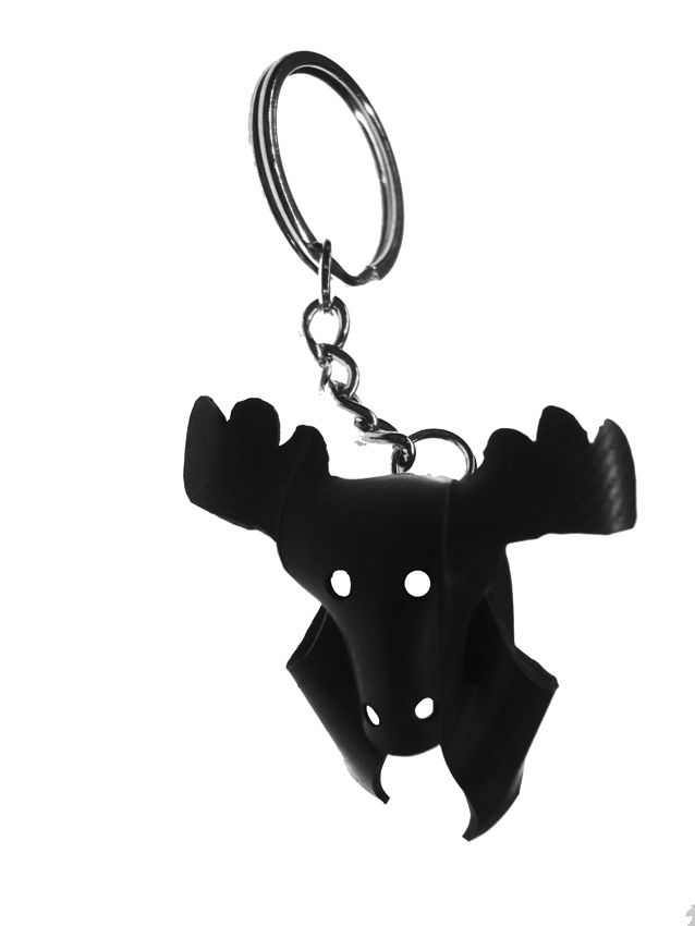 HIRVI keyring. Made out of recycled rubber from bycicle innertubes