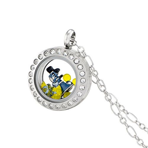 DESPICABLE ME MINIONS SWAROVSKI CRYSTAL CHARM PACK  Give your Living Locket® a sparkly nod to the Minions' iconic yellow bodies clad in denim overalls with the Despicable Me Minions Swarovski® Crystal Charm Pack. Inspired by Illumination Entertainment and Universal Studios' beloved film franchise, Despicable Me, this Crystal Pack features 10 Yellow Opal and 10 Denim Blue Swarovski Crystals and brightens up all your favorite Despicable Me Locket looks!