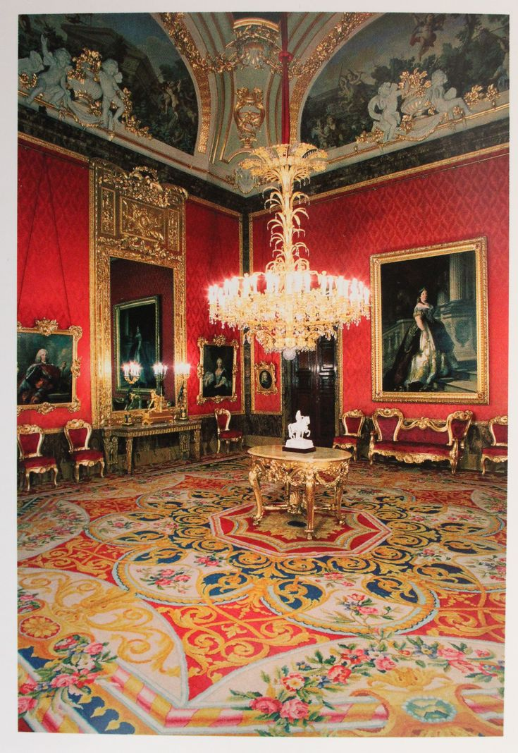 Room In The Spanish Royal Palace In Madrid Palace