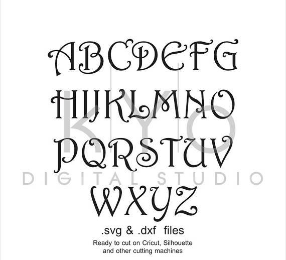 Fonts Bundle SVG Cut Files, Monogram letter svg files, monogram font svg cut files. All fonts are converted to SVG, EPS, PNG, DXF, Studio3 file formats. This listing is for Instant Download of 2 ZIP files containing: - Circle Monogram Font, - Vine Monogram Font, - Interlocking