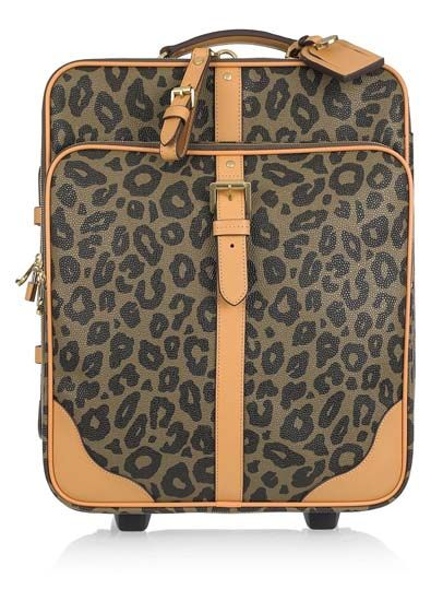 The Designer Suitcase  Channel your inner-feline by traveling with this luxury leopard trolley from Mulberry. The perfect fusion of fashion and function, this leather-trimmed design features wheels and an extendable pull handle, as well as internal and external pockets.    Mulberry Leopard Trolley Scotch Grain Suitcase $1350       Read more at http://www.thefashionspot.com/life/174057-travel-in-style-with-these-fashionable-carry-ons/#qSyXCEgFCF4Agx22.99