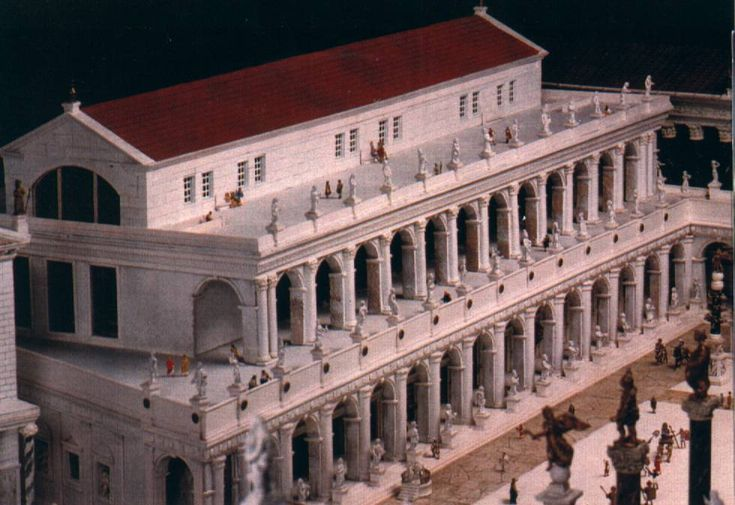 Roman Forum | Basilica Aemilia, 179 BC., was a civil basilica- the hall of justice, in the Roman forum. The Basilica was 100 meters long and about 30 meters wide.