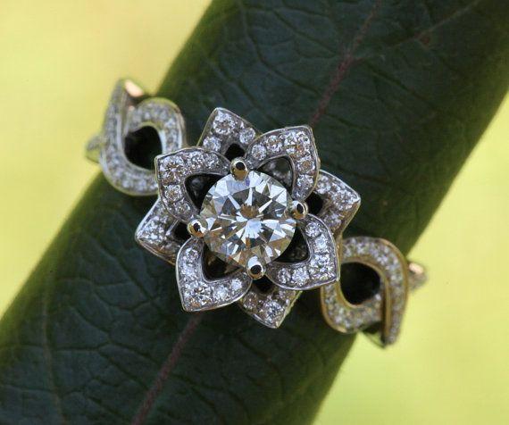 LOVE IN BLOOM  Platinum  Unique Flower Lotus by BeautifulPetra, $9,500.00