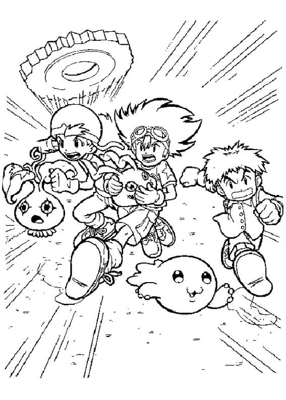Printable Digimon Coloring Pictures