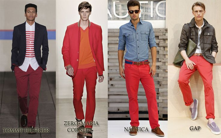 ESSENTIALISMO: SPRING TREND: RED PANTS FOR MEN