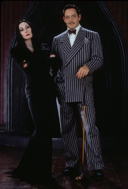 Morticia and Gomez Addams   If I went with a theme other than Gothic, it would be me and my Gomez